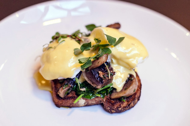 Eggs Benedict with mushrooms at Jarryds. Photo courtesy of the restaurant.
