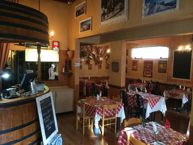 The restaurant setting on the inside at Fabio's Ristorante. Photo courtesy of the restaurant.