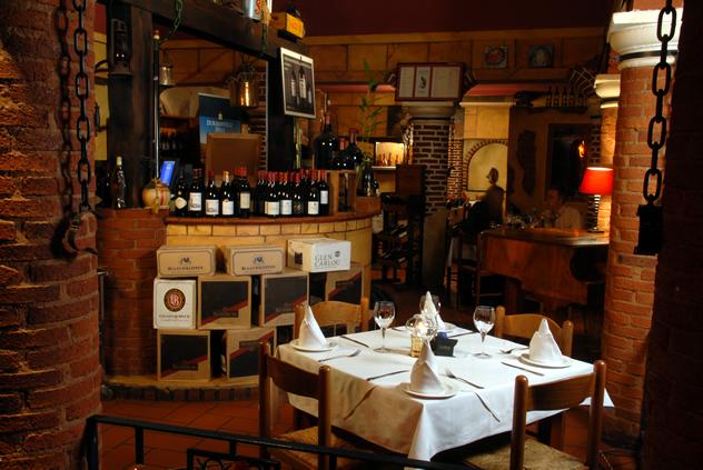 table at Caraffa