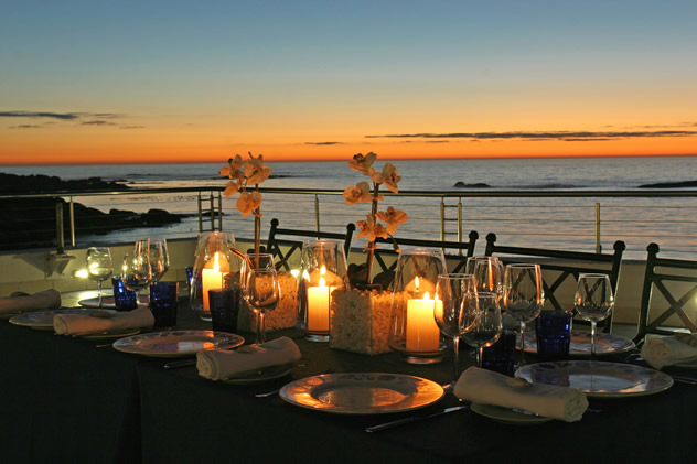 Outside setting at Azure at the Twelve Apostles Hotel. Photo courtesy of the restaurant.