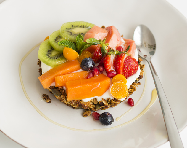 A fruity dessert at Betty Blue Bistro. Photo courtesy of the restaurant.