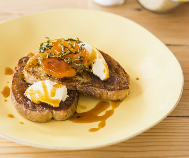 Decadent French toast at Betty Blue Bistro. Photo courtesy of the restaurant.