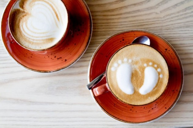 Decorated froth in Coffee at  Le Coco C in Pretoria. Photo courtesy of the restaurant.