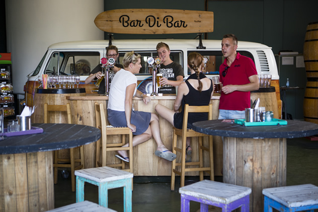 People chilling at Bar Di Bar food truck. Photo courtesy of the food truck.