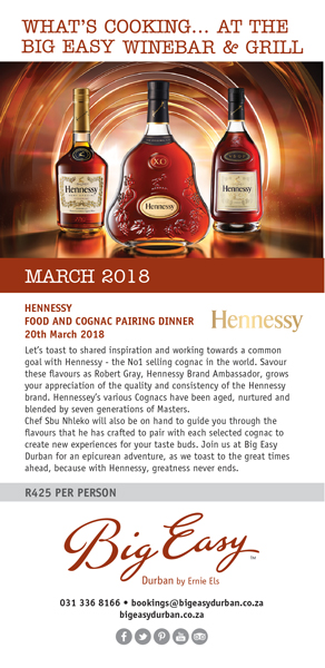 Hennessy offering at Big Easy