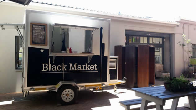 The Black Market food truck. Photo courtesy of the food truck.
