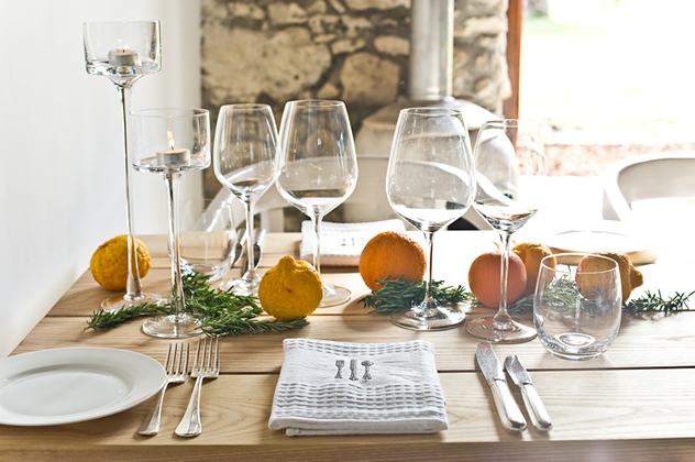 The table setting at Springfontein Eats. Photo courtesy of the restaurant.
