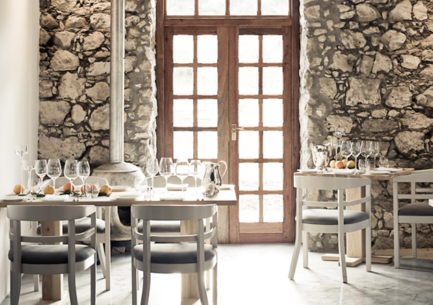 Light shining throughthe French doors at Springfontein Eats. Photo courtesy of the restaurant.