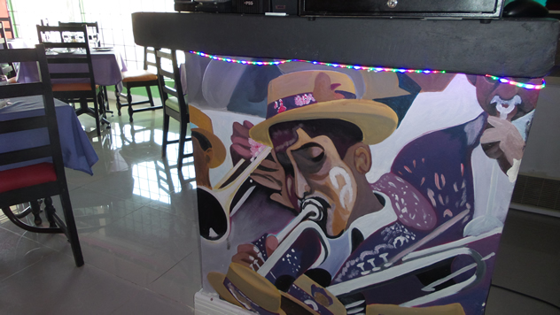 A mural of the Cape Coons at the D6 District Six Cafe in Emmarentia. Photo courtesy of the restaurant.