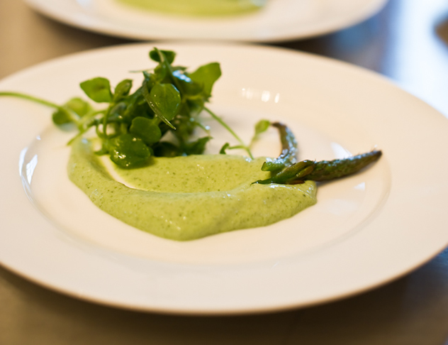 Foraged wild veldkool and chickweed with herbed cream at Springfontein Eats. Photo courtesy of the restaurant.