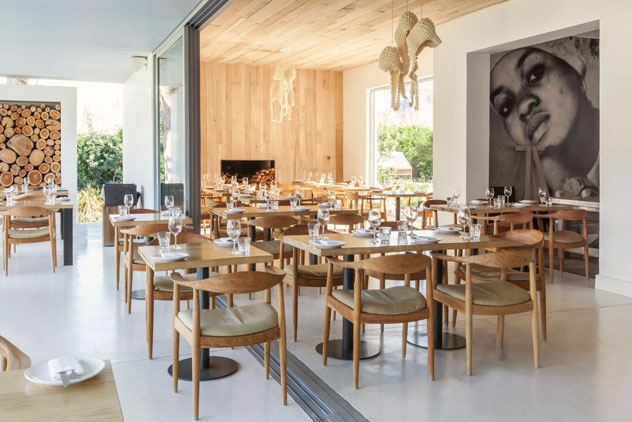 White walls and wood combine to create a calming interior. Photo courtesy of the restaurant.