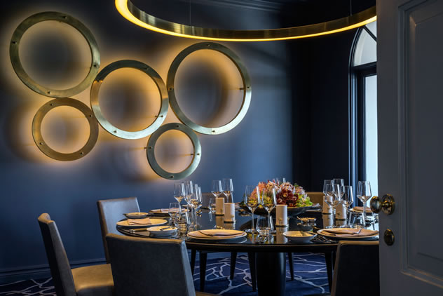 The interior decor at the View Restaurant. Photo courtesy of the restaurant.
