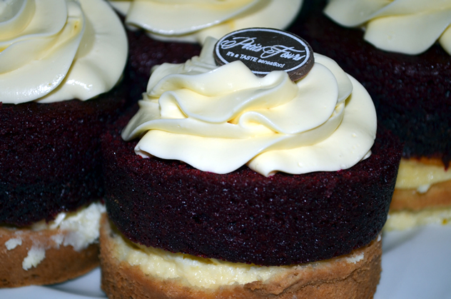 Tasty looking cakes at Petits Fours. Photo courtesy of the restaurant.