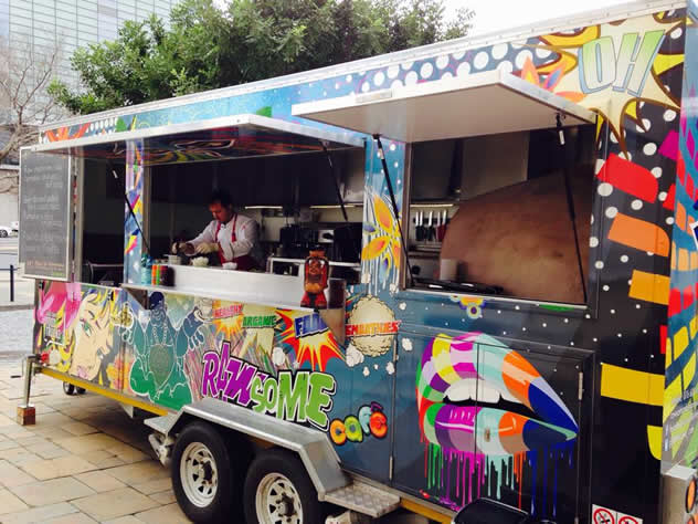 The colourful RAWSome food truck. Photo courtesy of the food truck.