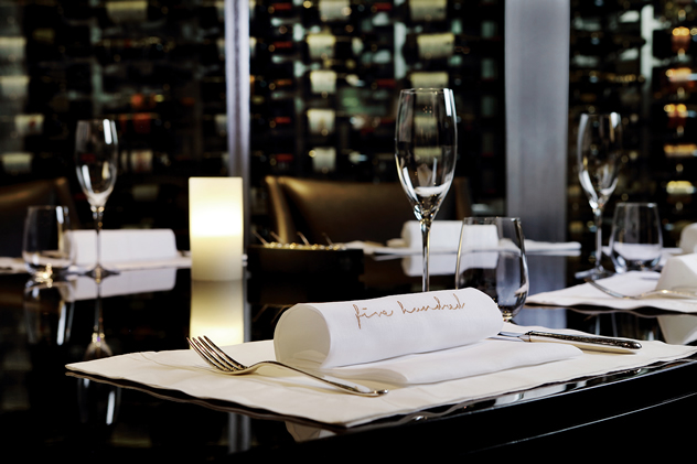 The table setting at Five Hundred at The Saxon. Photo courtesy of the restaurant.