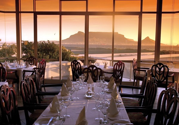 Sunset with a view of Table Mountain at Blowfish Restaurant. Photo supplied.