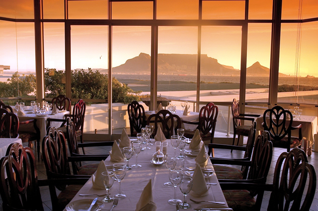 Sunset with a view of Table Mountain at Blowfish Restaurant. Photo courtesy of the restaurant.