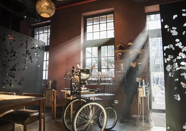 Light shining in through the windows onto the furniture at The Test Kitchen. Photo supplied.