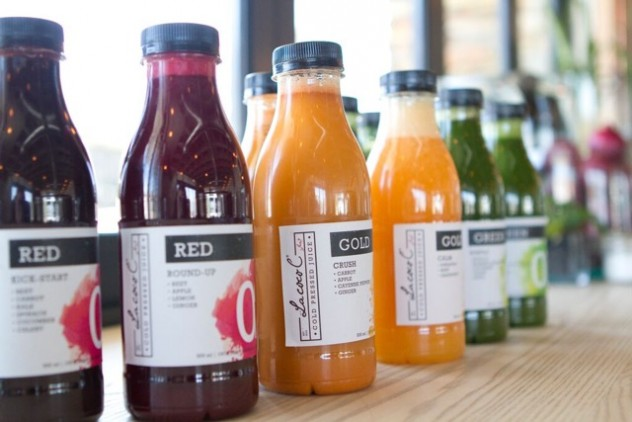 Bottles of juice at  Le Coco C in Pretoria. Photo courtesy of the restaurant.