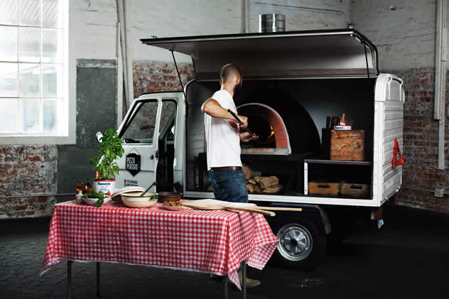 The Pizza Piaggo food truck. Photo courtesy of the food truck.