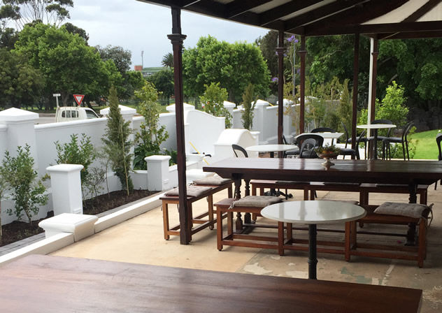The outside tables at Savages in Port Elizabeth. Photo courtesy of the restaurant.