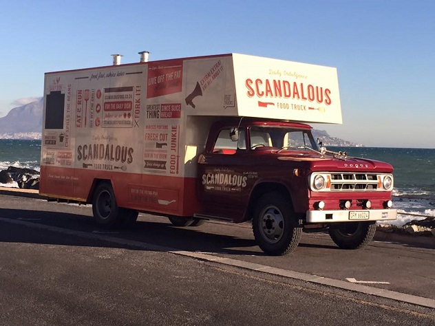 The Scandalous Food Truck in Cape Town. Photo courtesy of the food truck.