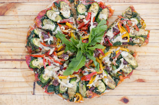 A pizza from the  Leafy Greens Café. Photo courtesy of the restaurant.