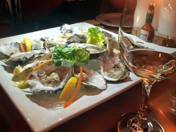 Oysters at Thirty Ate at The Grand Daddy Hotel. Photo courtesy of the restaurant.