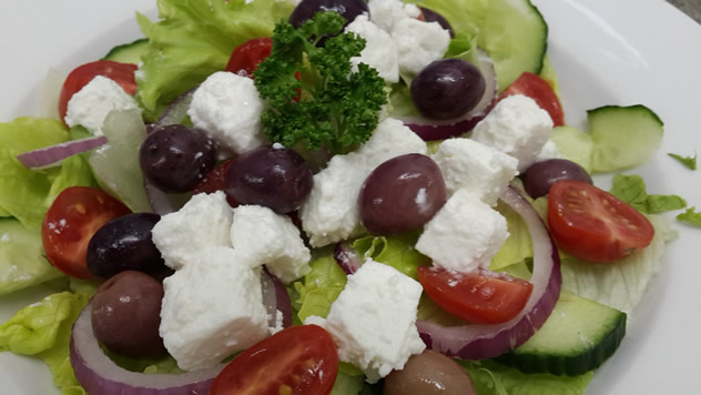A Greek salad at Pirates Steakhouse and Pub. Photo courtesy of the restaurant.