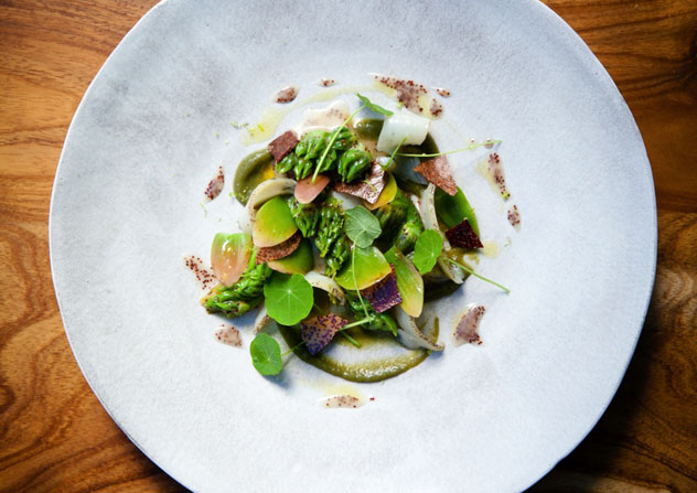 Perlemoen, waterblommetjie and sour fig at The Tasting Room. Photo by Jan Ras.