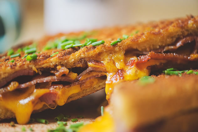 A toastie from Bacon on Bree. Photo courtesy of Claire Gunn Photography.