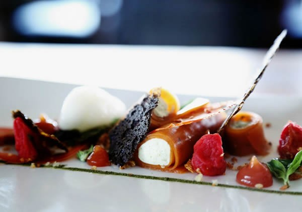 Cold caprese cannelloni at De Kloof Restaurant. Photo supplied.