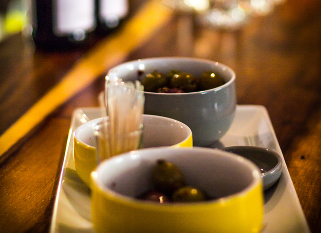 Olives in two bowls at Con Brio Bistro. Photo courtesy of the restaurant.
