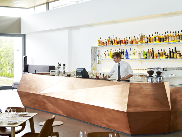 The copper bar at Equus Dine at Cavalli. Photo courtesy of the restaurant.