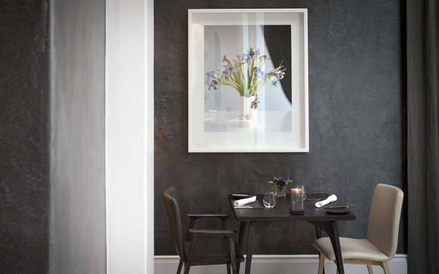 The elegant interior at the  Greenhouse at The Cellars-Hohenort Hotel. Photo courtesy of the restaurant.