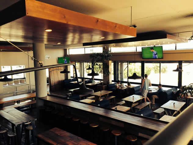 A view of the dining area at Jerry's Burger Bar in Blouberg. Photo courtesy of the restaurant.