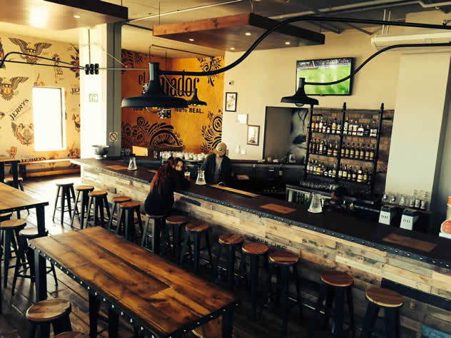 A view of the bar at Jerry's Burger Bar in Blouberg. Photo courtesy of the restaurant.
