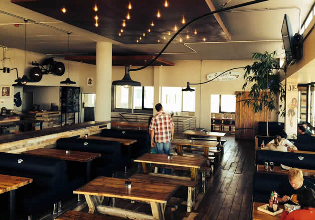 The interior at Jerry's Burger Bar in Blouberg. Photo courtesy of the restaurant.