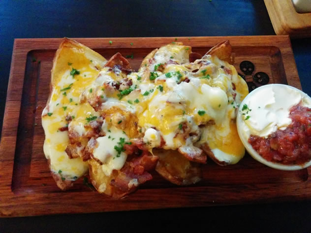 A cheesy dish at Dropkick Murphy's in Cape Town.