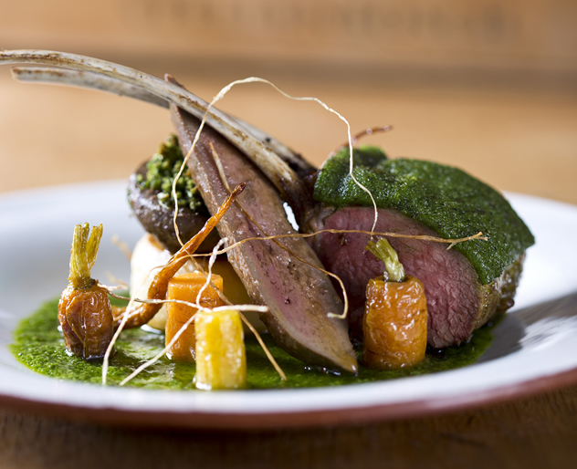 A lamb dish with vegetables at Jordan Restaurant. Photo courtesy of the restaurant.