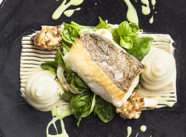 Line fish at Equus Dine at Cavalli. Photo courtesy of the restaurant.