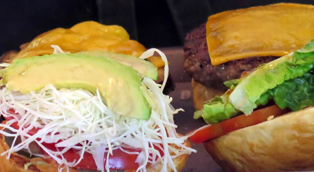 A cheeseburger from Mondiall Burger Bar. Photo courtesy of the restaurant.