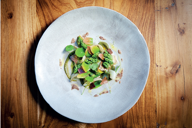 Perlemoen, waterblommetjie and sour figs by executive chef Margo Janse.