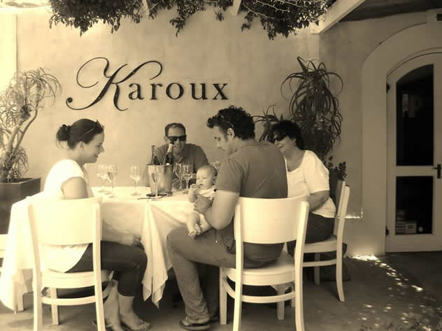 Al fresco dining at Karoux. Photo courtesy of the restaurant.