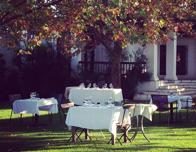 autumn tables outside