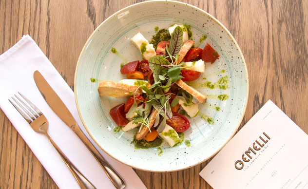 Gemelli's take on the Caprese salad. Photo by Rupesh Kassen.