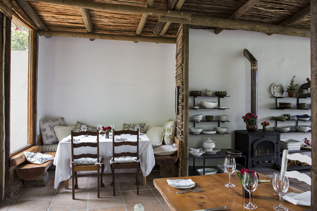 A corner table at Fresh at Paul Cluver. Photo courtesy of the restaurant.