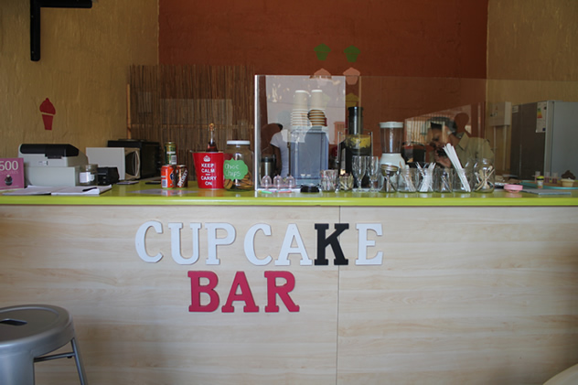 The counter at Heart Cupcakes in Maboneng. Photo courtesy of Mokgadi Itsweng.