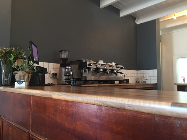 The coffee counter at MyChefs Restaurant. Photo courtesy of the restaurant.