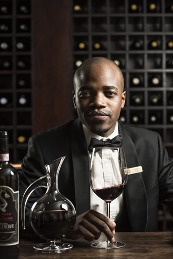 Lloyd Jusa, sommelier at Five Hundred at The Saxon in Johannesburg.